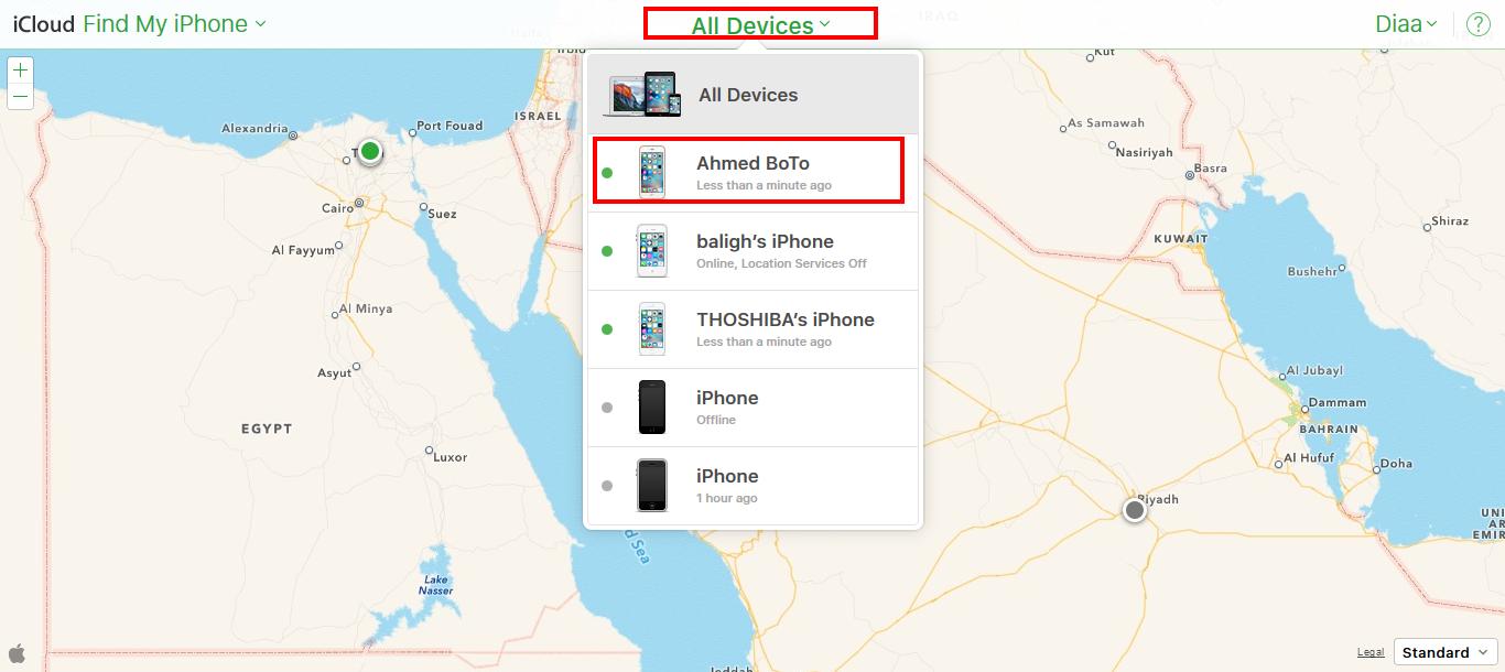 iCloud - Find My iPhone 2015-11-21 19-34-43